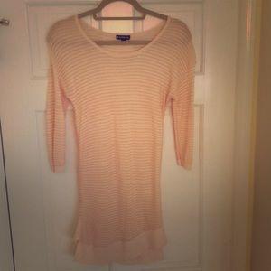 "Pink long 3/4"" sleeve top"